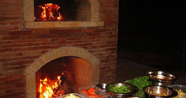 brick oven fireplace combo | The result is a great oven and