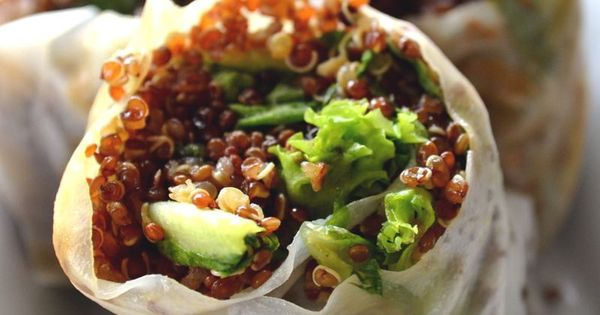 Quinoa, Spring rolls and Spring on Pinterest