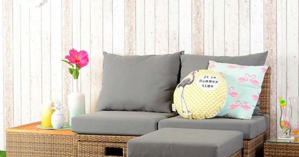 Awesome Loungem bel Set f r Balkon und Garten aus Polyrattan inkl Kissen tlg grau grau Loungeset Pinterest