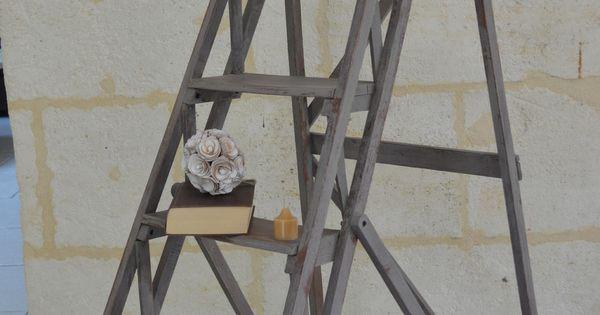 Amatxi D Co Cr Ations Escabeau Ancien Peint Avec Un M Lange De Chalk Paint Par Annie Sloan