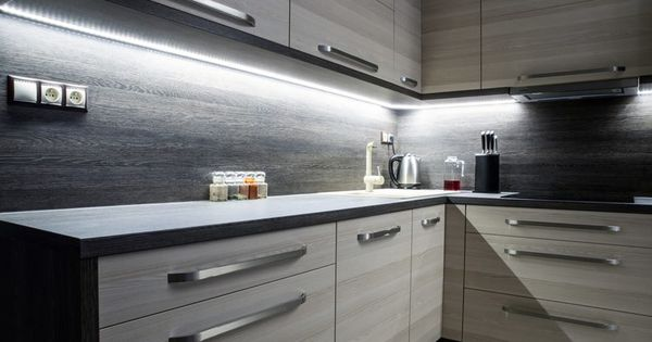 Dark Kitchen Our 20ft Indoor Led Soft White Tape Light Is A Versatile Solution For Many Indoor Under Cabinet Lighting Light Kitchen Cabinets Cabinet Lighting