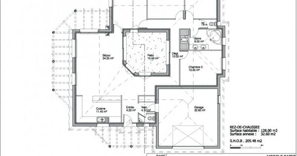 Plan maison patio recherche google woningplannen for Google plan maison
