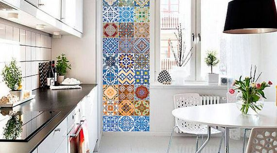 kitchen with backsplash portuguese tiles azulejos tile decals tile stickers 13875