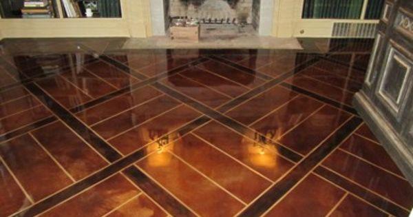 Engraved Stained Overlay Concrete Floors Concrete Mystique Engraving Nashville Tn Flooring Concrete Floors Decorative Concrete Floors