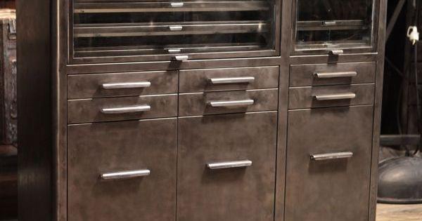 meuble de metier de dentiste ancien meuble industriel vintage de renaud jaylac pinterest. Black Bedroom Furniture Sets. Home Design Ideas