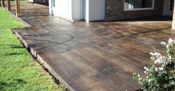 Stamped Concrete Patios Can Be Made To Look Like Stone Wood Slate Etc And Stained A Variety Of Colors Backyard Patio Outdoor Living