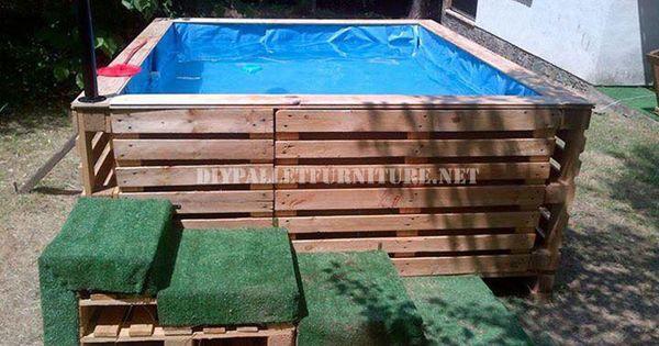 projette pour construire une piscine avec palettes piscine jacuzzi palettes en bois et les. Black Bedroom Furniture Sets. Home Design Ideas