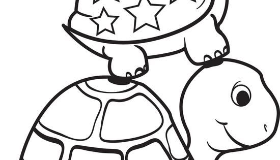 Turtle On Top Of A Turtle Coloring Page Free Printable