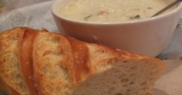 Panera's Baked Potato Soup by Stephanie Molina Minus the bacon and get
