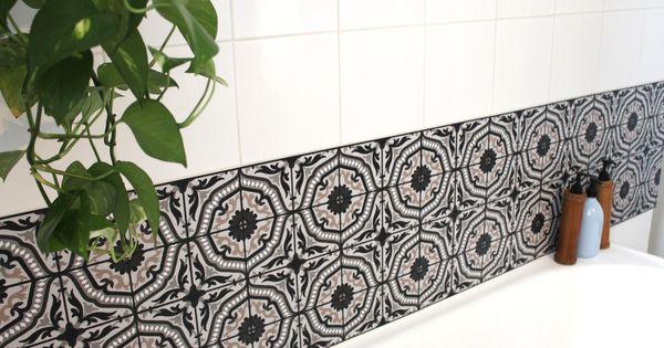 carreaux de ciment adh sifs la boutique du grand cirque rise and shine bathroom salle de. Black Bedroom Furniture Sets. Home Design Ideas