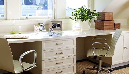 Double Desk Home Office Design Ideas, Pictures, Remodel and Decor