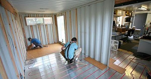 Shipping Container Homes Radiant Floor Heat Cooling Smart