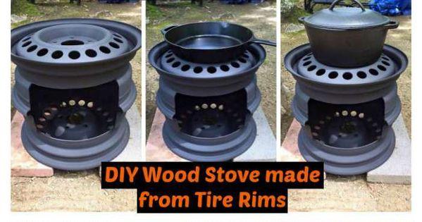 DIY Wood Stove made from Tire Rims | Diy wood stove, Diy wood and ...