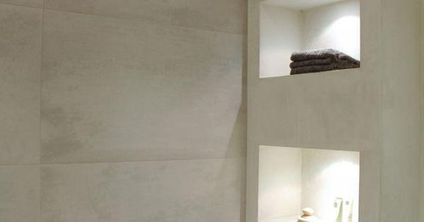 Badkamer Dekor Idees : Badkamer idee qua nisjes. Master bathroom ...