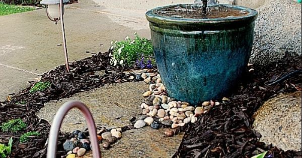 Diy recirculating fountain tutorial gardening for Recirculating water feature