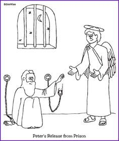 Peter Freed From Prison Coloring Page Sunday School Coloring