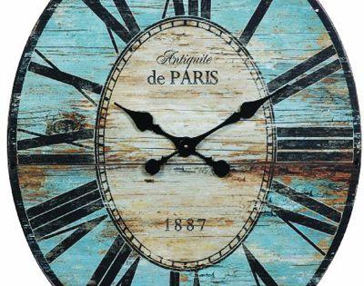 Antiquite De Paris Wood Oval Wall Clock I Want That
