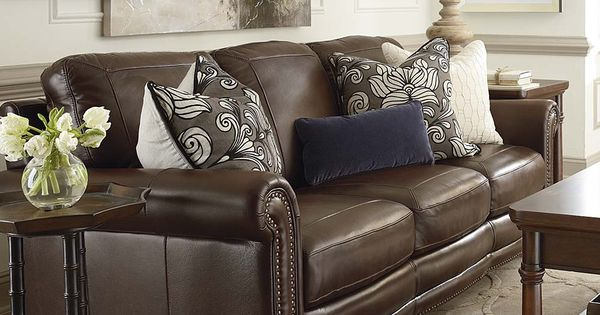 Love this brown leather couch home decor pinterest - Tapizar sofa piel ...