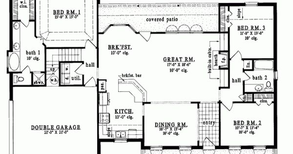 House plan love this i would just do a little changing for Half basement house plans