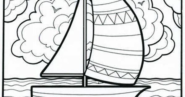 Its A Smoooooth Sailboat Coloring Book Page From Our Classic Lets Doodle Book This