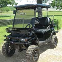 Street Legal 48v Black Stealth Club Car Precedent Electric Golf Cart Golf Carts Electric Golf Cart Custom Golf Carts