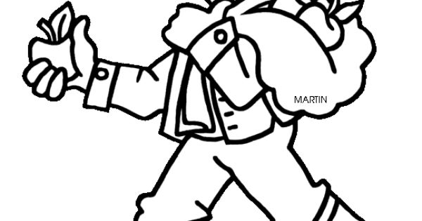 Johnny Appleseed Chapman Coloring Sheet