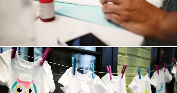 Baby Shower Activity - Decorate Onesies