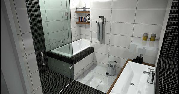 AuBergewohnlich Badgestaltung Bad Ideen Badezimmer Schwarz Weiß Graue | Badezimmer,  Badezimmer Ideen