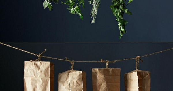 DIY - How to dry your herbs - you need herbs for