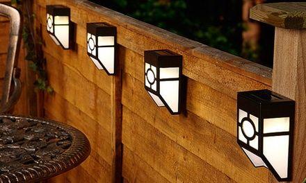 Up To 12 Pack Of Globrite Solar Fence Lights Solar Fence Lights