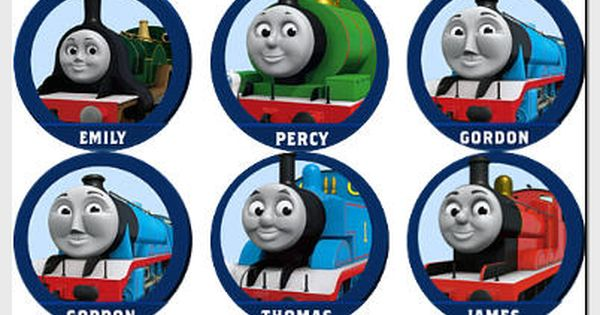 Satisfactory image within free printable thomas the train cup cake toppers