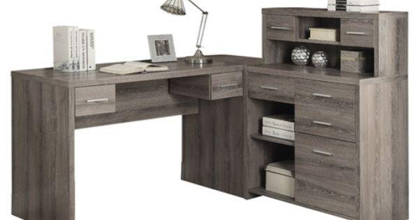 Monarch Specialties Inc. Corner Computer Desk with Hutch ...