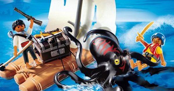 Playmobil 4291 Piraten Riesenkrake Mit Floss Playmobil Pirat