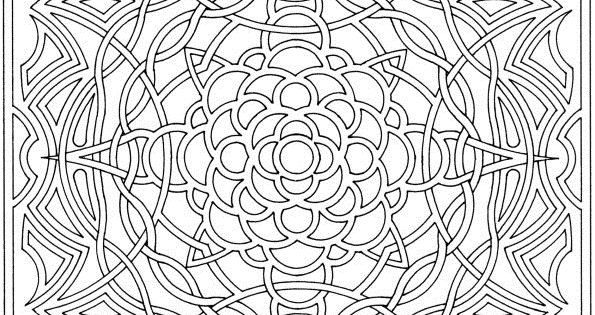 Complex Coloring Pages for Adults | Free Printable ...