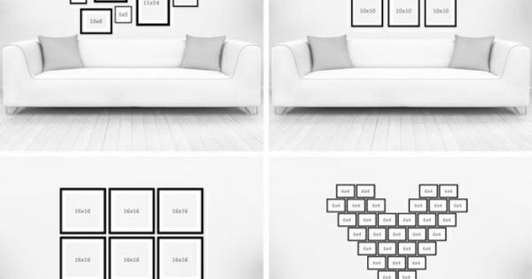 verschiedene ideen f r eine kreative fotowand bilderwand pinterest fotowand verschiedenes. Black Bedroom Furniture Sets. Home Design Ideas