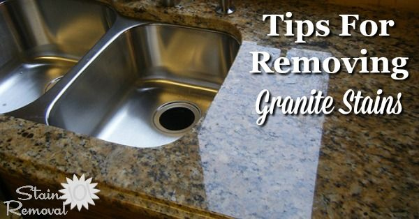 Tips For Removing Granite Stains From Countertops More How To Clean Granite Cleaning Granite Countertops Granite Care