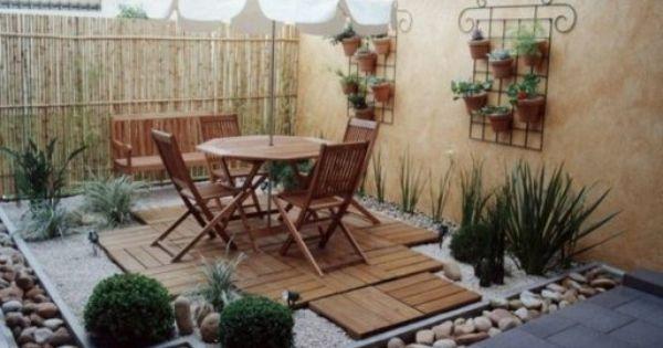 Decoraci n de terrazas con piedras de colores jardin for Piedras colores decoracion