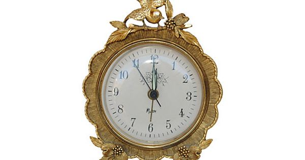 French classic chairs - Vanity Clock W Bird On Onekingslane Com For Thehome And