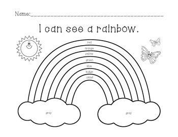Rainbow Color Worksheet Color Worksheets Rainbow Writing Rainbow Activities