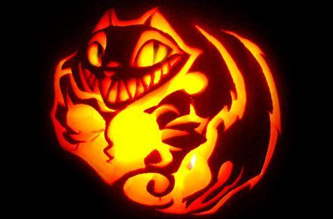 Halloween pumpkin carving cat patterns
