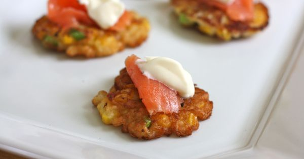 Corn and Bacon fritters!   Hors D'oeurves   Pinterest   Bacon