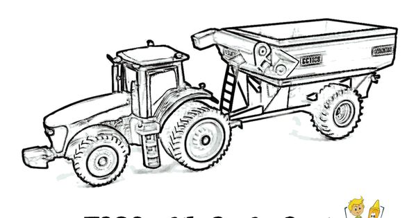 Tractor Printable Coloring Pages For Kids