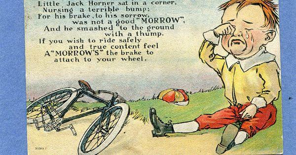 Morrow Bicycle Coaster Brake Elmira Ny Nursery Rhyme