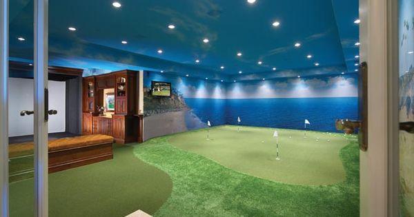 golf man cave