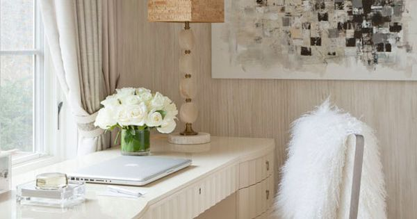 Chic home office design fashion decor interior interiordesign design beautiful furniture home