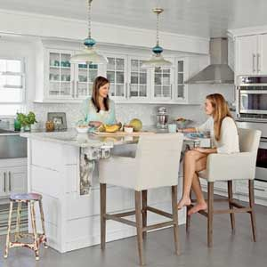 Home Tour Bald Head Island Home Classy Kitchen Stools For Kitchen Island