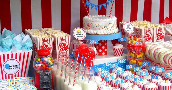 Vintage Circus Birthday Party Ideas....