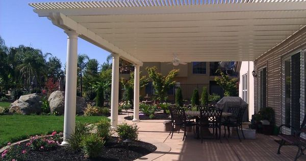 Lattice patio cover with columns easy and relatively for Cheap patio cover ideas