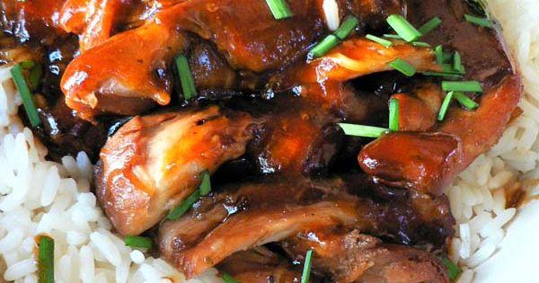 Crockpot teriyaki Chicken ~ Yum 12 boneless skinless chicken thighs ( about