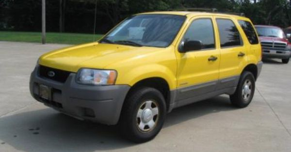 2001 Ford Escape Ford Escape Ford Yellow